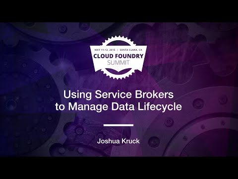 Using Service Brokers to Manage Data Lifecycle