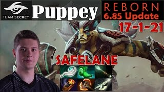 Puppey - Elder Titan Safelane Pro Gameplay | 17 Kills 1 Deaths | Dota 2 MMR