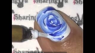 Китайская роспись ногтей. Рисуем цветы на ногтях акриловыми красками(Создать уникальный дизайн на Ваших ногтей можно с помощью специальных 3D красок для китайской росписи «Artissim..., 2015-11-02T12:23:49.000Z)