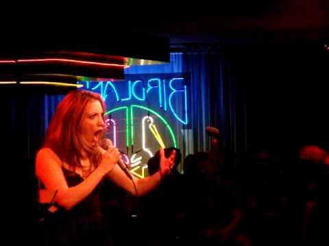 "Christina Bianco sings ""Glitter and Be Glib"" at Bi..."