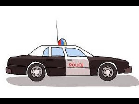 How to draw a Police car - YouTube
