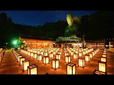 供養の祈りを込め 青龍寺の「盂蘭盆万灯会」