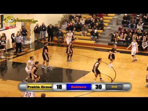 2014-15 Prairie Grove vs Subiaco Academy Basketball-Boys Regional Tournament 1st Round