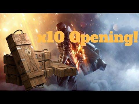 x10 Battlepack Opening! (BF1) |