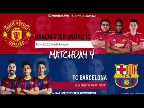 Manchester United FC vs. FC Barcelona | Highlights Matchday 4 eFootball.Pro IQONIQ 2020-2021