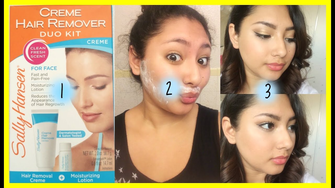 Sally Hansen Facial Hair Creme Remover Youtube