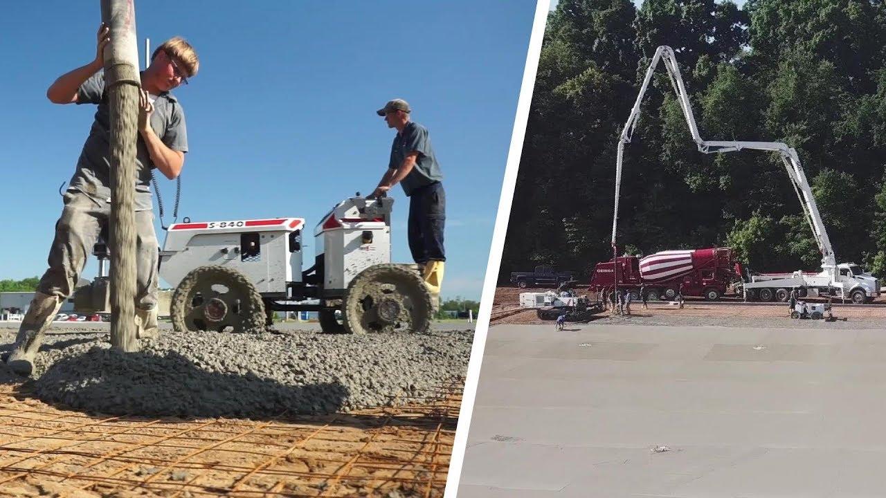 Commercial Concrete Pouring and Finishing | W M Miller Concrete Contractors
