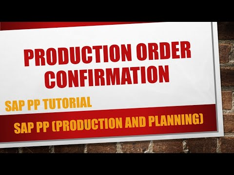 How to do a production order confirmation in SAP (CO11N