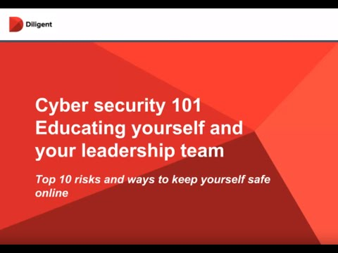 Cybersecurity 101: Educating yourself and your leadership team