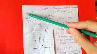 108 Алгебра 9 класс, Используя шаблон параболы постройте графики