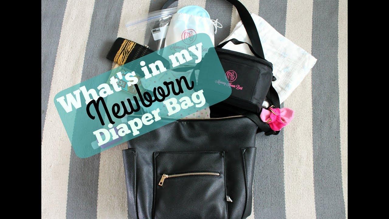 What S In My Bag Newborn Diaper Checklist