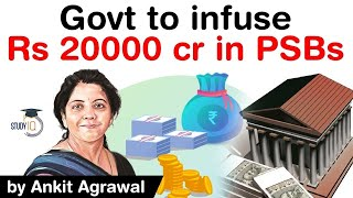 Finance Ministry's capital support plan for PSBs - Government to infuse Rs 20000 in PSBs #UPSC #IAS