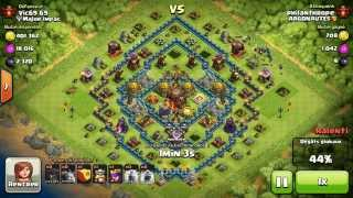 BM072 Balloons and Minions Strategy against champion level opponent - Clash of Clans CoC