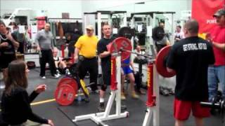 9 year old Naomi Kutin squats 187 lbs at a bodyweight of 88 #