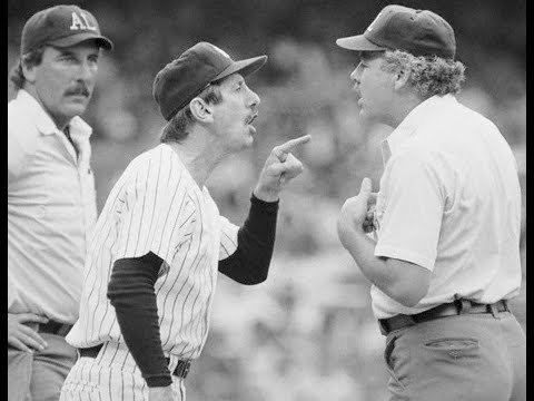 Billy Martin's last ejection (1988) and interview (1989) - YouTube