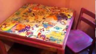 Diy Decoupage Kids Furniture And Music Memorabilia Decoupage Projects