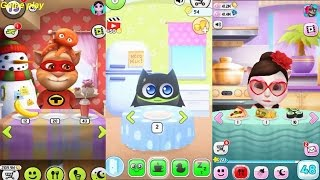 My Talking Angela VS My Talking Tom VS My Chu 2 Gameplay Great Makeover for Children HD