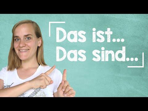German Lesson (10) - Beginner Phrases - Das Ist/Das Sind - A1