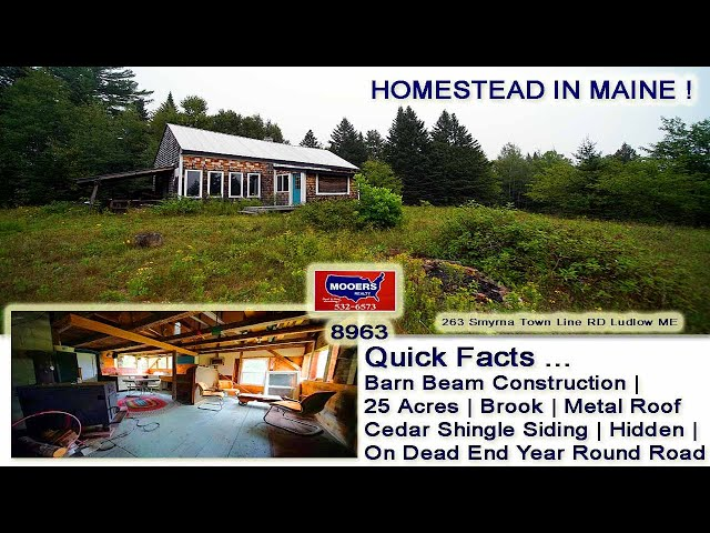 Maine Vacation Or Homestead Home, Land For Sale | 263 Townline RD Ludlow ME MOOERS REALTY #8963