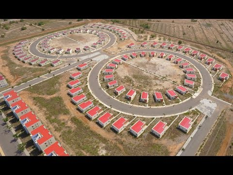 Drone footage of the Saglemi Housing Project, Accra