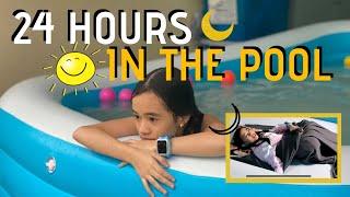 24 HOURS IN THE SWIMMING POOL CHALLENGE! (ft. IMOO WATCH)   YESHA C.