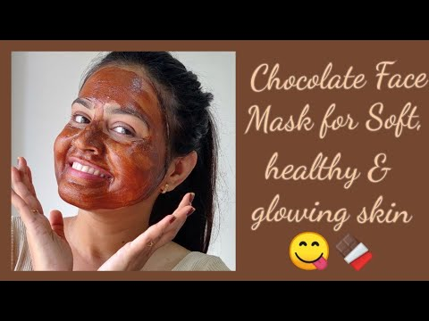 Chocolate Face Mask For Soft, Healthy & Glowing Skin🍫😋