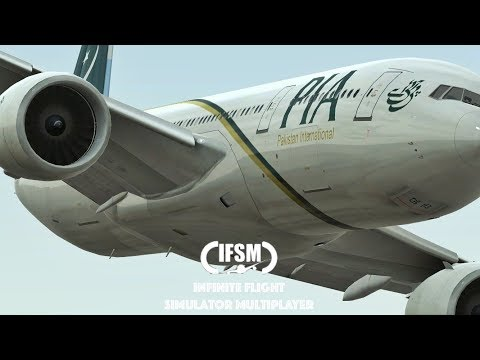 Infinite Flight PIA Airlines B777 - 200LR - Training Sever - Southern California region