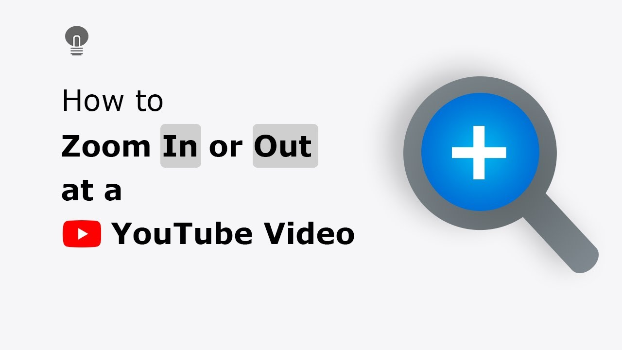 🔵How to Zoom In and Out function on the YouTube video player?