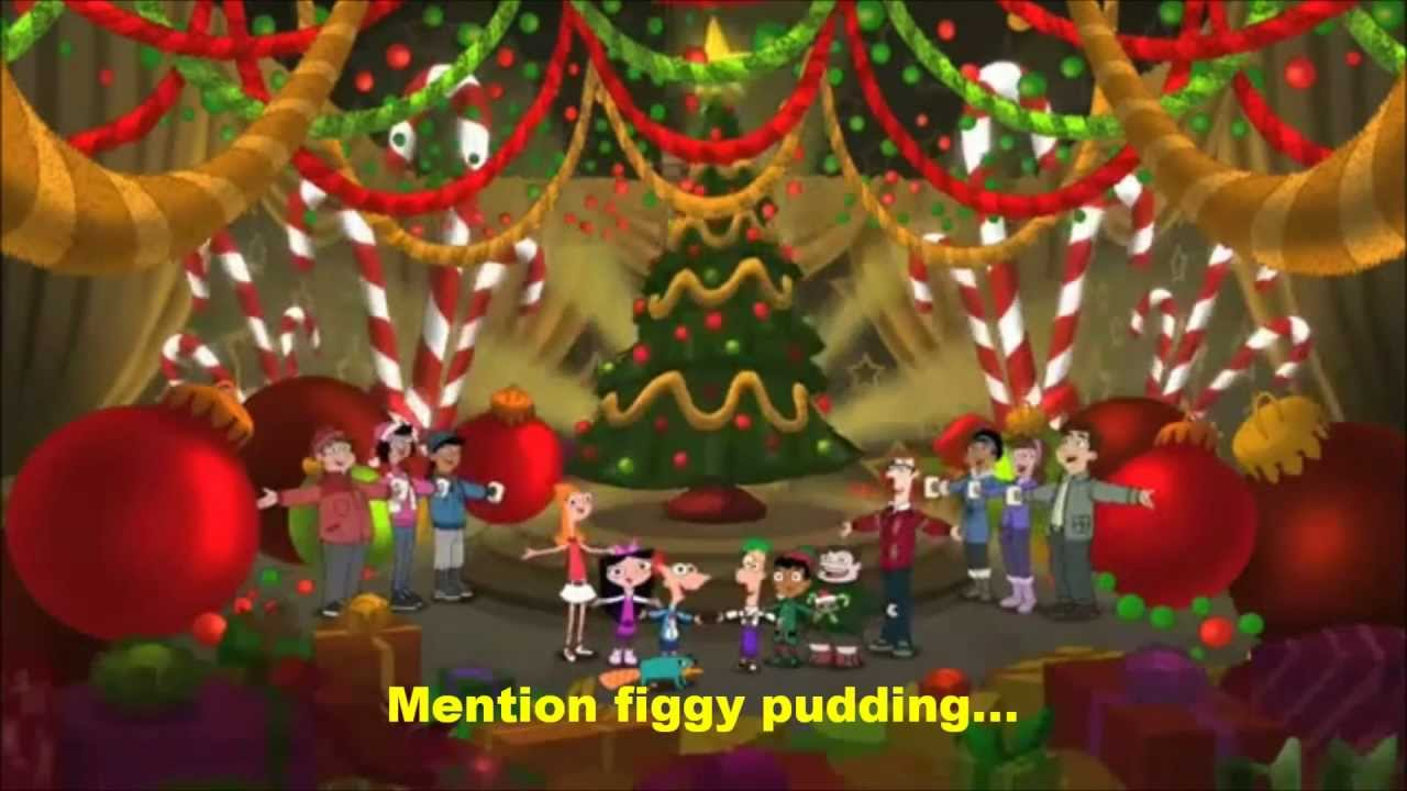 Merry Christmas From The Family Lyrics.A Phineas And Ferb Family Christmas We Wish You A Merry Christmas Lyrics Hd