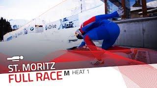 St. Moritz | BMW IBSF World Cup 2018/2019 - Men's Skeleton Heat 1 | IBSF Official