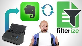 📝📲My AUTOMATED Paperless Office using Evernote with Filterize and ScanSnap iX500
