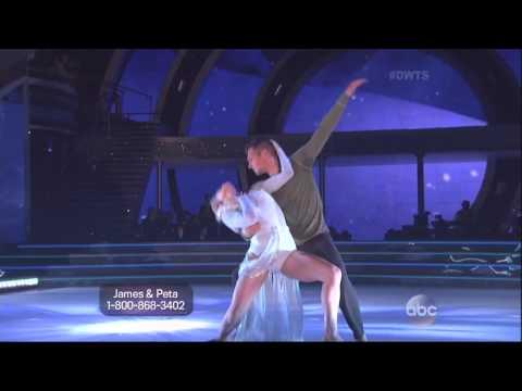 Peta Murgatroyd & James Maslow dancing...