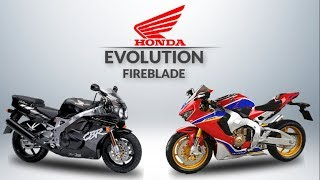THE EVOLUTION OF HONDA CBR FIREBLADE 1992 - 2019  #FreeWheelie
