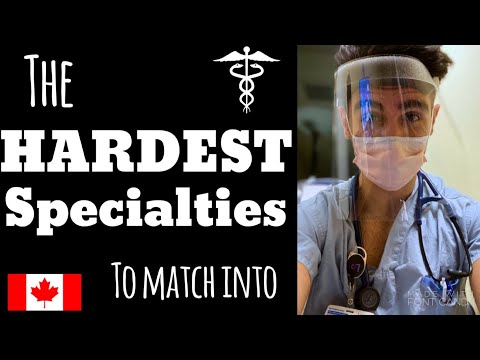 The 5 HARDEST Medical Specialties To Match | Canadian Doctor