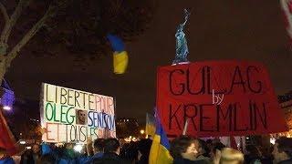 Митинг в поддержку Олега Сенцова в Париже