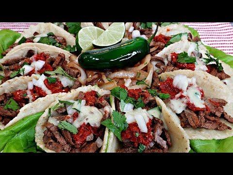 Carne Asada Tacos Platter | Carne Asada Recipe | Street Tacos Recipe