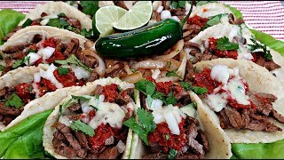 Carne Asada Tacos Platter   Carne Asada Recipe   Street Tacos Recipe
