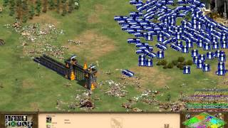 aoe ii hd new update no more lag in late game test 500 cobras vs 7 hardest ai