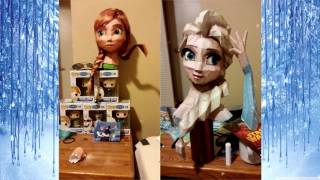 Anna & Elsa Bust Papercraft Progression