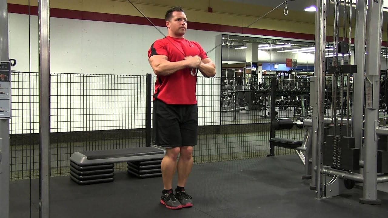 Standing Cable Crossover Tricep Extension