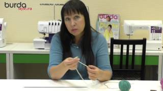 Вязание итальянской резинки , набор петель