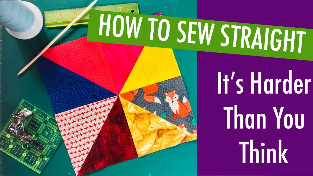 BEGINNER QUILTING SKILLS - HOW TO SEW STRAIGHT - Free Fabric Give-a-way