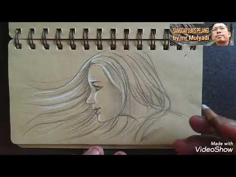 SIMPLE, CEPAT & BERWARNA.TUTORIAL Menggambarcwajqh Diatas Kertas Coklat | Face Drawung From Side