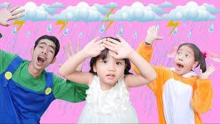 Rain Rain Go Away Song Lyrics Sing-along | Nora Family Show