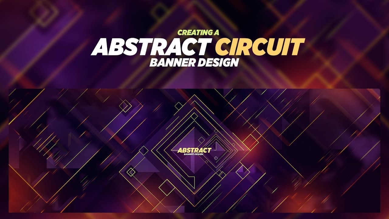 Photoshop Tutorial: Abstract Circuit Banner Design