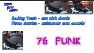 Guitar Backing Track 76 (Piste Soutien) - Funk in E minor (mineur)