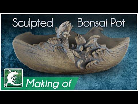 🐟 Making A Sculpted Pot - Fish Jumping - Bonsai Pottery