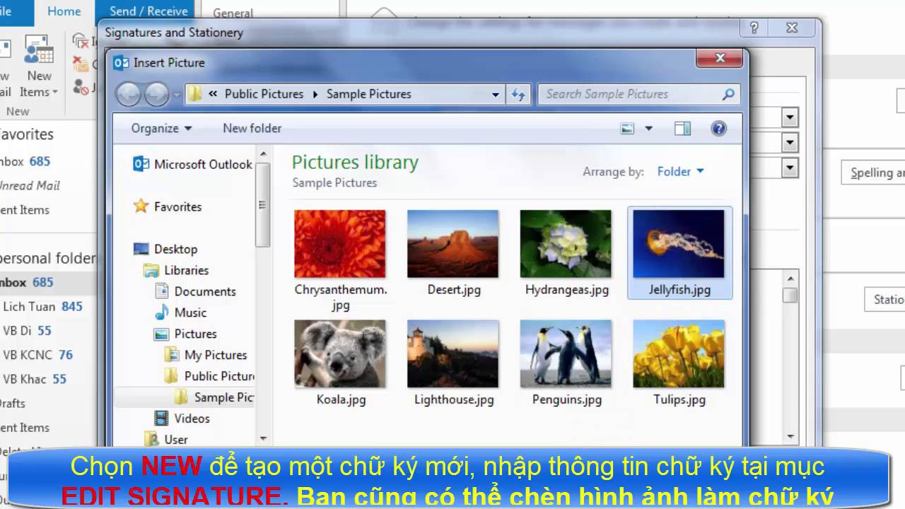 Cách tạo chữ ký trong Outlook 2010/2013/2016 – Signature Outlook 2013/2016