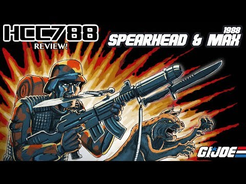 HCC788 - 1988 SPEARHEAD & MAX - Pointman & Bobcat - with FUNSKOOL (India) G.I. Joe toy review!