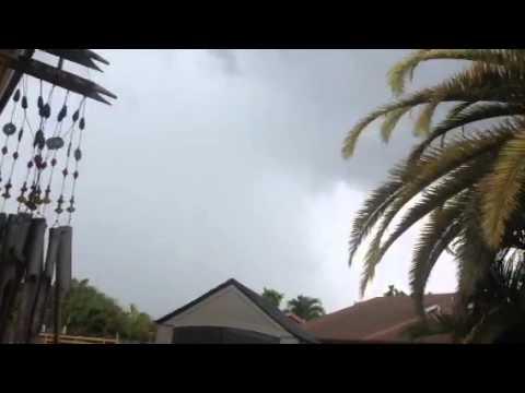 Miami June Thunderstorm In Hialeah FL. 6 27 2015
